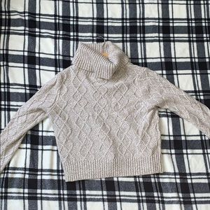 Forever 21 cable knit crop sweater